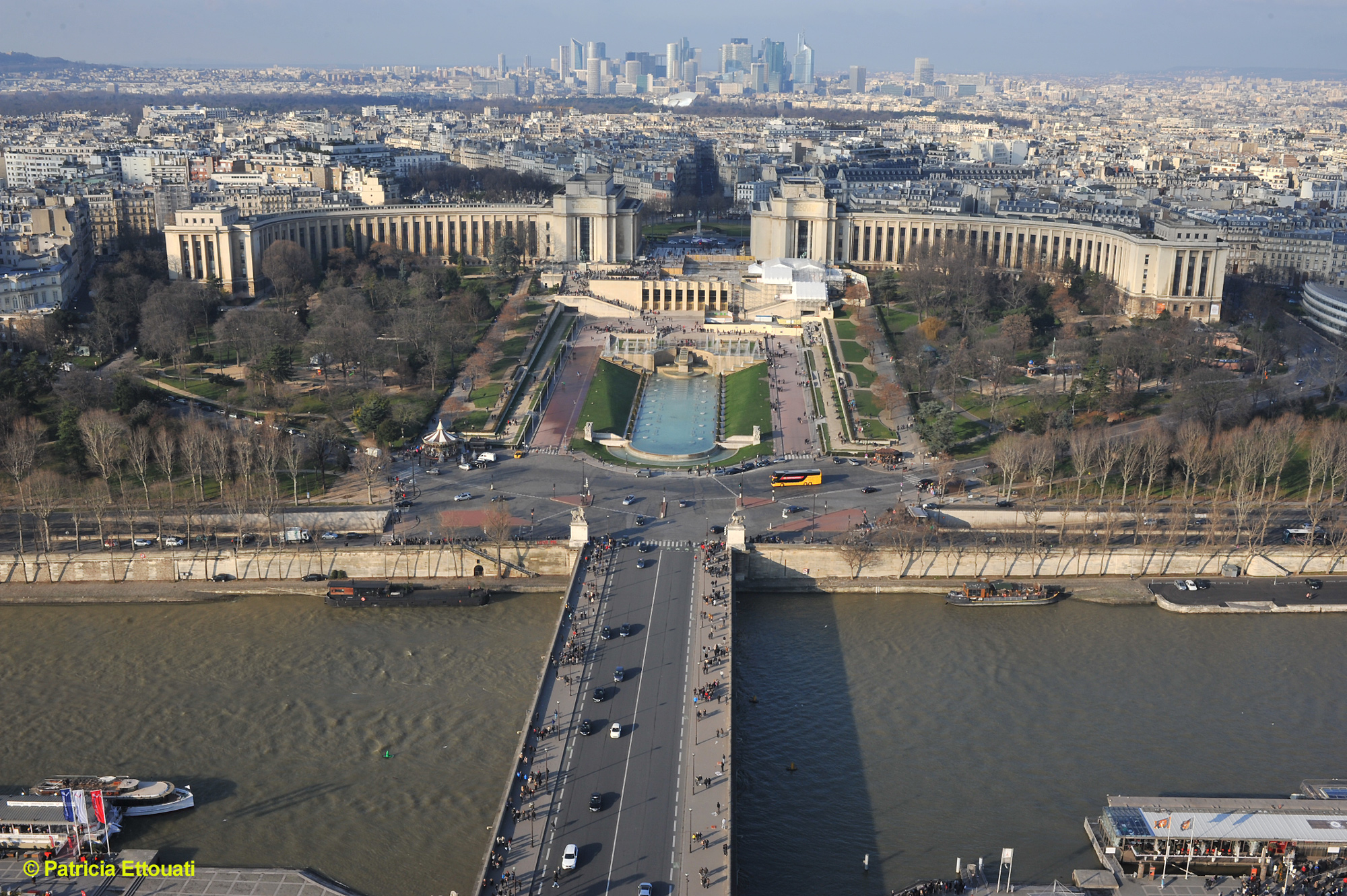Photo de Paris vu tour Eiffel