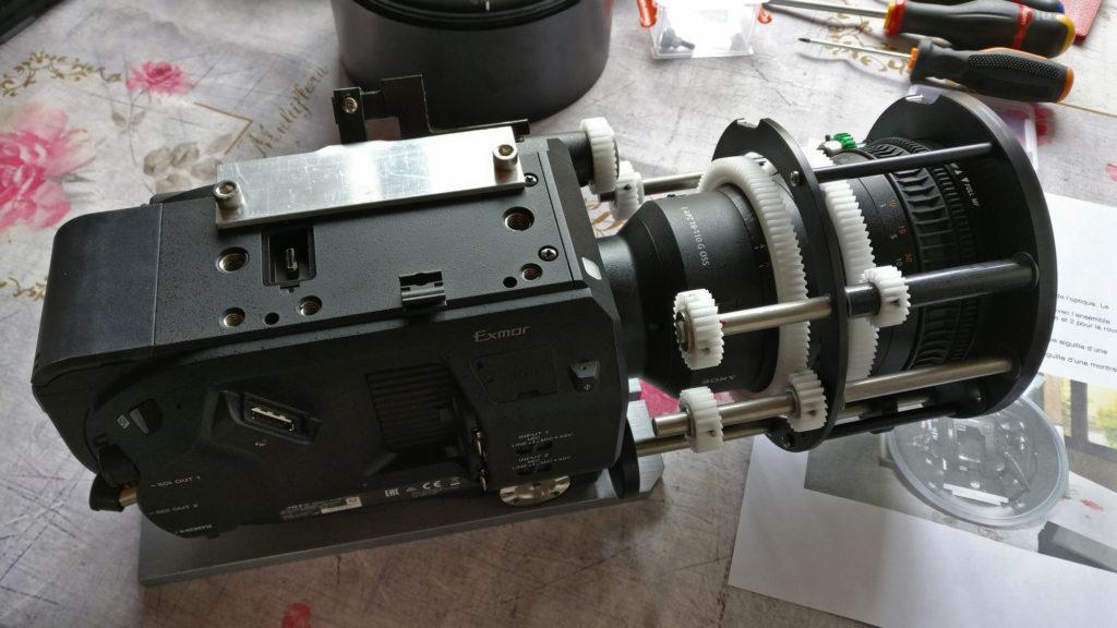 Caméra SF7 montée pour le caisson GP vu de haut
